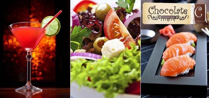 Зима в ШОКОЛАДЕ! 50% скидки на ВСЕ меню кухни и 20% на весь бар в Karaoke-lounge bar «Chocolate»!