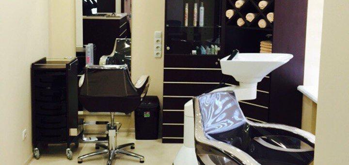 Мужская стрижка и укладка, коррекция бороды на выбор в салоне «САНА Бьюти»