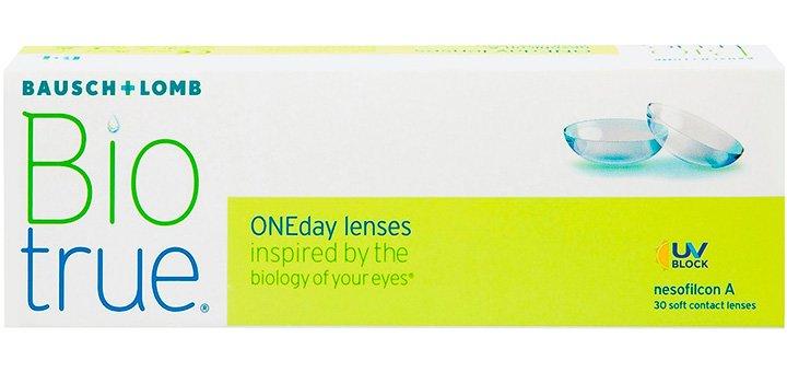 При покупке упаковки контактных линз «Biotrue ONEday» (30 шт) от Bausch+Lomb - 5 линз в подарок
