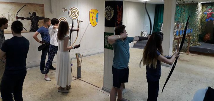 Стрельба из лука в лучном клубе «Skolot»