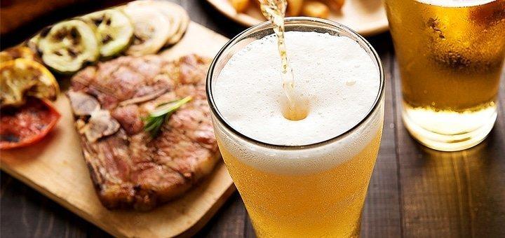 Скидка 50% на все блюда, бургеры и пиво в традиционной баварской пивной «Бавариус»