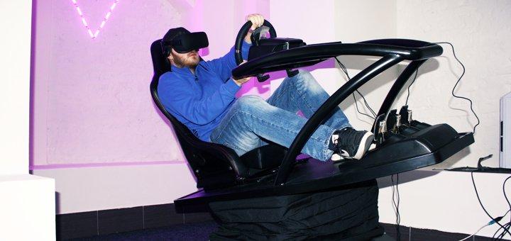 До 20 минут полного погружения на гоночном симуляторе от «VR Motion»