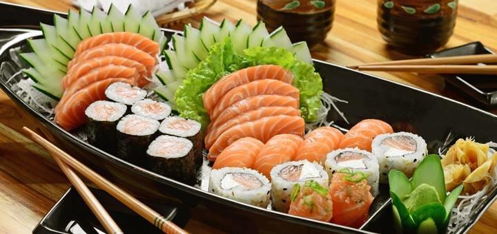 Скидка 50% на все меню службы доставки суши «Японика»
