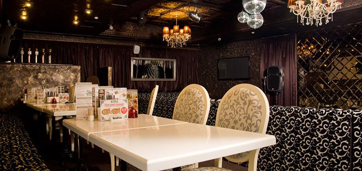 Скидка 50% на меню итальянской кухни, роллы, лимонады, чай и вход в караоке в ресторане «Mafia»