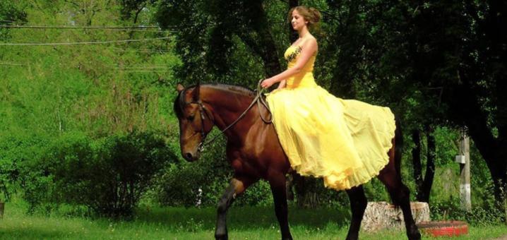 Скидка до 54% на уроки верховой езды и прогулки по лесу на лошадях в клубе «Серебряная подкова»