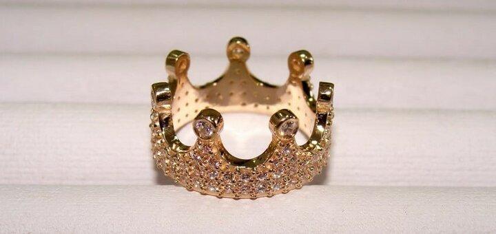 МЕГА АКЦИЯ!!! Скидка на кольца короны из золота и серебра
