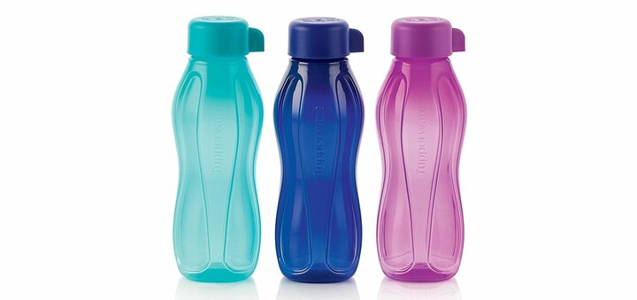 Скидка 25% на набор эко-бутылок (310 мл), 3 штуки от «Tupperware»