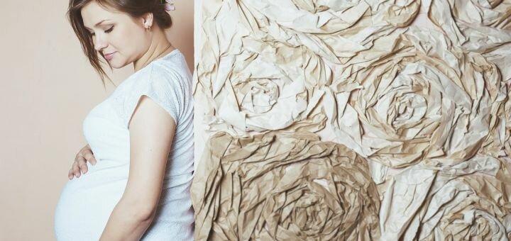 Студийная фотосессия для беременных в новой студии от фотографа Жени Лайта