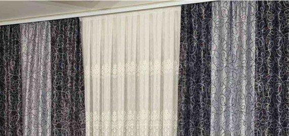 Скидка 36% на комбинированые шторы блекаут