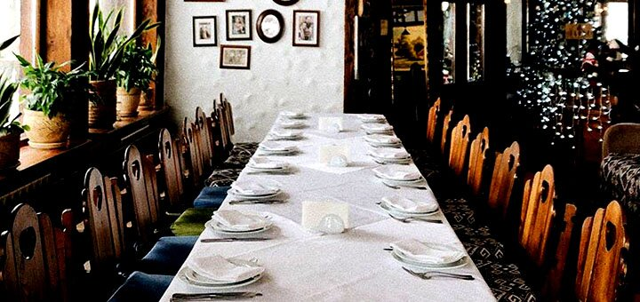 Рыбный дегустационный сет и вино для двоих в ресторане украинской кухни «Тарас»