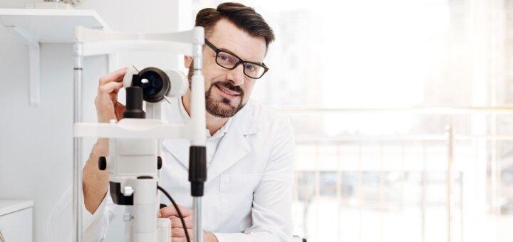Диагностика глаукомы на два глаза в медицинском офтальмологическом центре «Зір 100%»