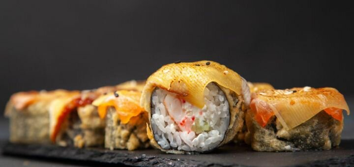 Скидка 50% на суши-пицца сет «Биг Трэвел» или суши-сет «Едовский» от «Mr.Edovsky»
