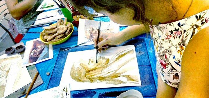 До 16 уроков рисования по разным направлениям в школе творческого развития «KievArtClub»