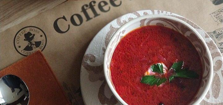 Скидка 50% на меню кухни в кафе «Coffee Boss»