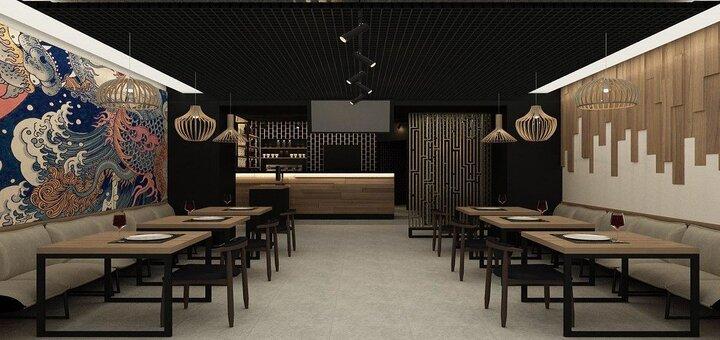 Скидка 50% на все меню кухни в японском ресторане «Yumeko»