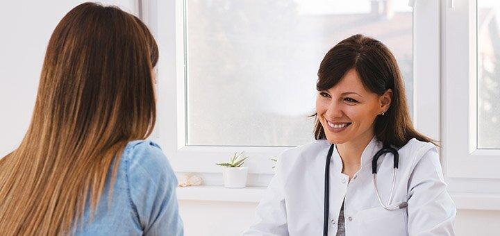 Обследование у терапевта с расшифровкой ЭКГ в медицинском центре «Verona»