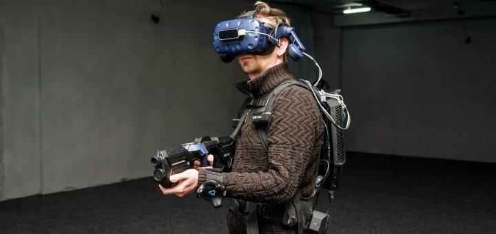 1 сеанс VR-игры с полным погружением всего тела в клубе виртуальной реальности «VR Inn»
