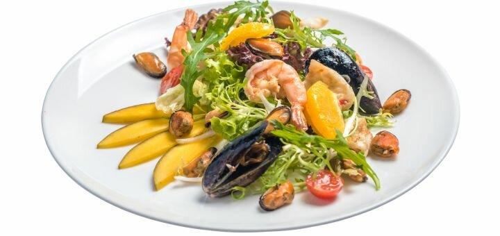 Скидка 50% на новое меню кухни в лаунж-кафе «Palladium»