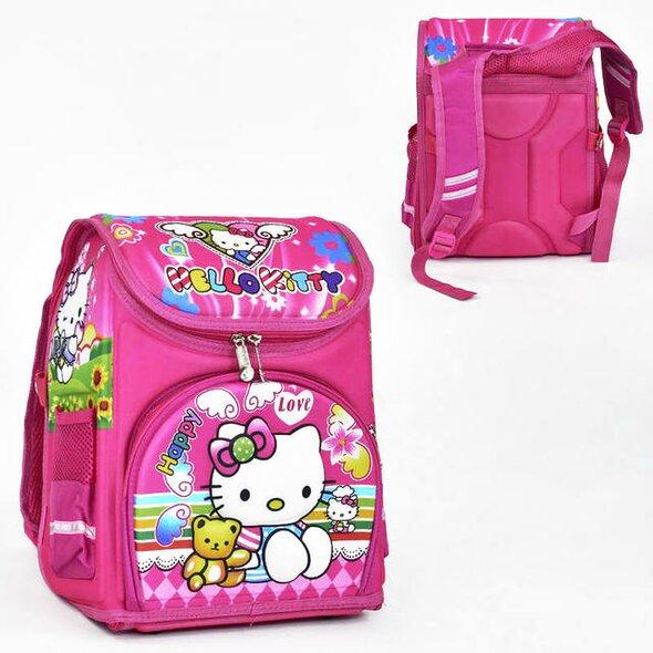65047e890ed1 Рюкзак каркасный школьный Hello Kitty ортопедический Розовый (St2008)